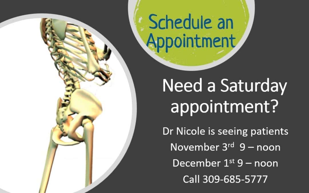 Saturday Appointments