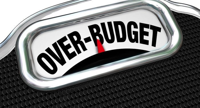 overspend | over budget