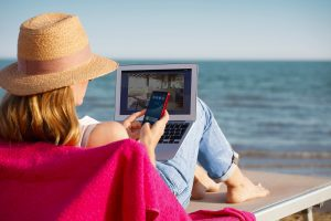 work at home or on the beach